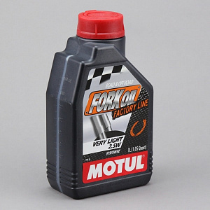 Масло для вилок Motul Fork Oil Factory Line Very Light 2,5W 100% Ester 1л  (арт.101133)